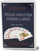 Карты для покера Texas Holdem Jumbo Index Синие