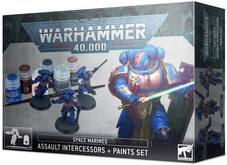 Warhammer 40,000 Space Marines Assault Intercessors and Paints Se Акция!