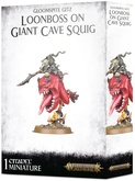 Warhammer. Age of Sigmar Миниатюры: Gloomspite Gitz Loonboss on Giant Cave Squig Акция!