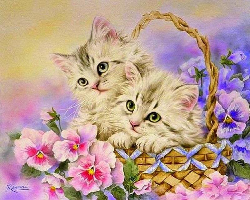Открытки милашки котики